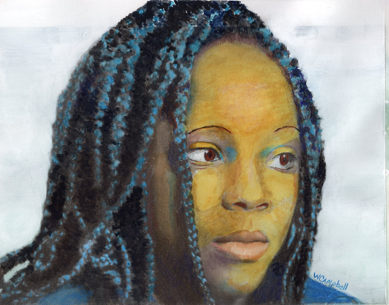 """""""Zianna 2"""" (mixed media) by William Campbell"""