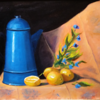 """Lemons and Pitcher"" (oil on canvs) by John Orr"