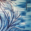 """Brilliance in Blue"" (textured acrylic) by Kimberly Overton"
