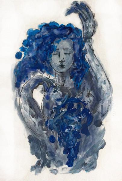 """Melancholy"" (gouache, marker, photoshop) by Veronika Litvin"
