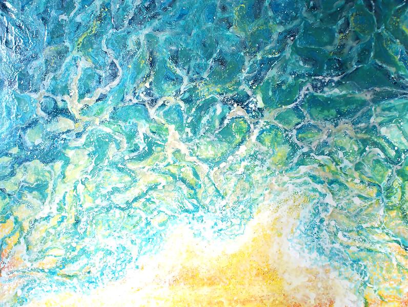 """""""Sea Inside"""" (mixed media, canvas) by Tatiana Gladysheva"""