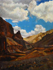 """Barren"" (acrylic on canvas board) by Rajat Kumar"