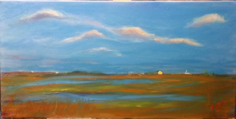 """Dune Road Hamptons"" (oil on canvs) by John Orr"