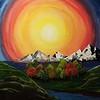 """In My Eyes"" (acrylic on canvas) by Julianne Macaspac"