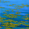 """Water Lilies"" (oil on panel, plein air) by Louis Degni"