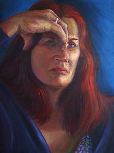 """Shrouded Vision"" (oil on canvas sheet) by Daniele Gabriel"