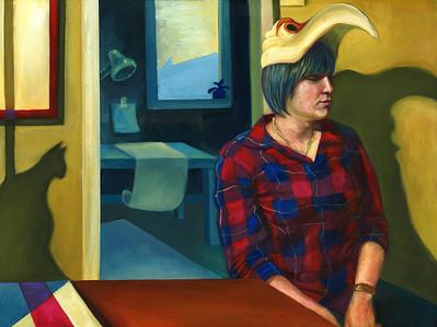 """Waiting"" (oil on canvas sheet) by Daniele Gabriel"