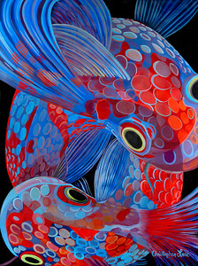 """Koi"" (oil on canvas) by Christopher Lane"