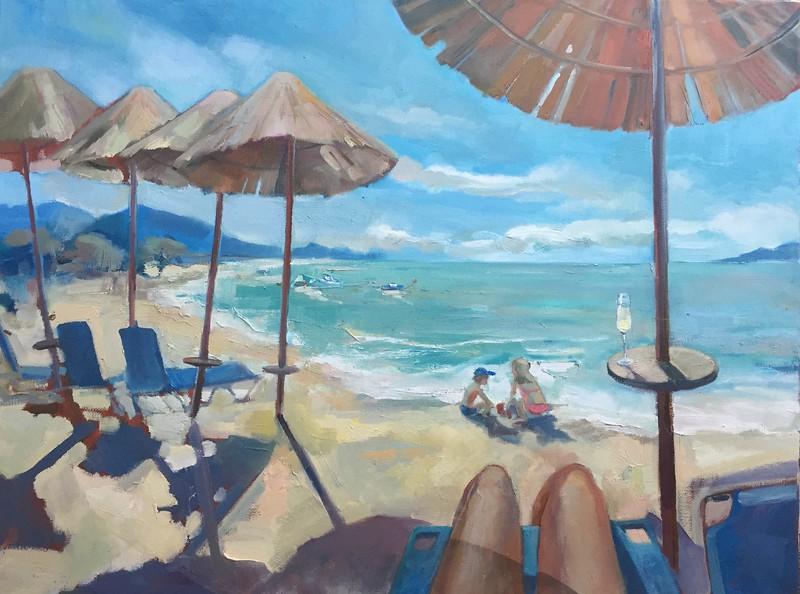 """Perfect blue morning"" (oil on canvas) by Svetlana Kornilova"