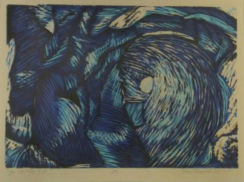 """""""You Can Have It All"""" (wood cut relief) by Drew Charpentier"""