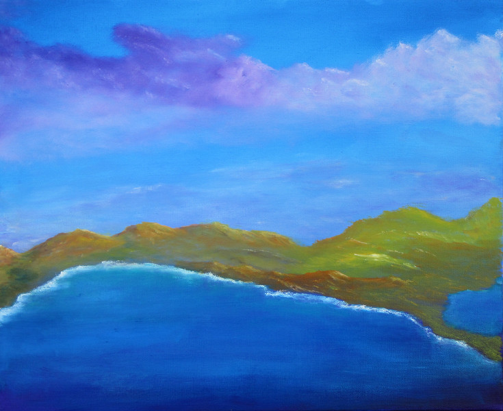 """Harbor"" (oil) by Eldon Case"