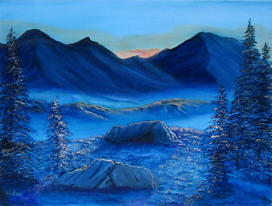 """Daybreak"" (oil) by Eldon Case"