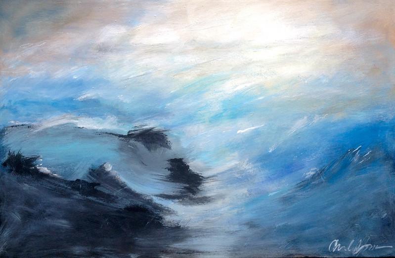 """""""Ebbtide"""" (acrylic on canvas) by Arnold Jones"""