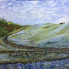 """Bluebonnet Trail"" (oil on canvas) by Crista Bromley"