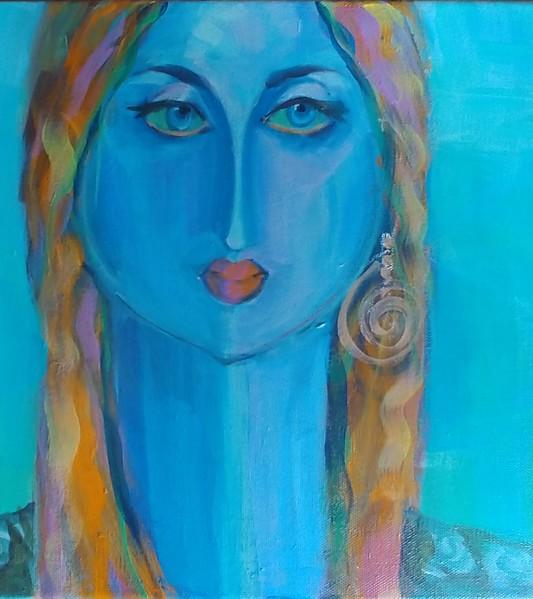 """Deep In Sea"" (acrylic) by Luciana Fabiilli"