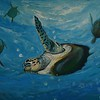 """The turtles dance"" (acrylic) by Guy Nelvand"