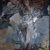"""""""Selena"""" (oil on canvas, acrylic, silver spray, epoxy) by Evgenya Severskaya"""