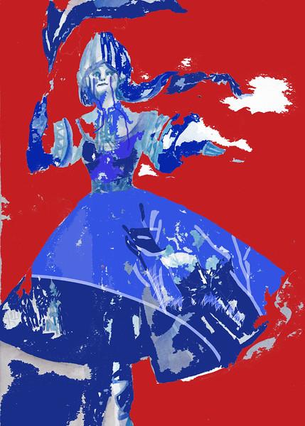 """Revolution 1917"" (acrylic) by Daria Tatarenko"