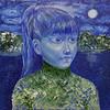 """""""Alice"""" (oil on canvas) by Alexandra Nebylova"""