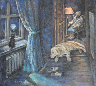 """One expectancy - three insomnia"" (pastel) by Elena Makhova"