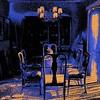 """My Blue Dining Room A"" (digital drawing) by Lorre Slaw"
