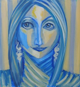 """Mystic"" (acrylic) by Luciana Fabiilli"