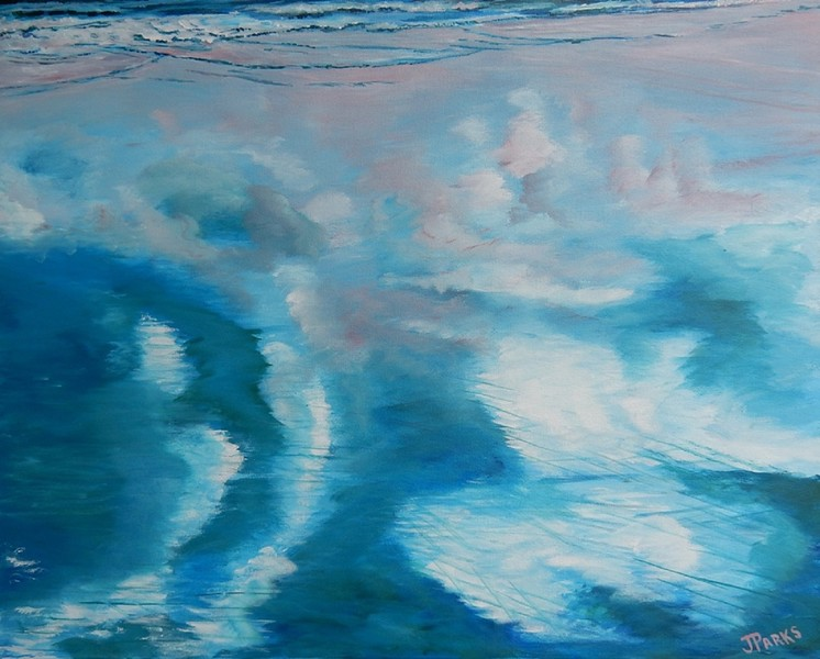 """""""Clouds Illusions"""" (acrylic) by Joy Parks Coats"""