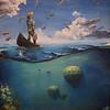 """""""Fisherman"""" (acrylic on canvas) by Ekaterina Andreeva"""