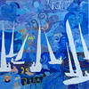 """Graffiti Sailing"" (oil) by Cheryl Kramer"