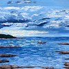 """""""East Coast Reflections"""" (acrylic on canvas) by Taylor George"""