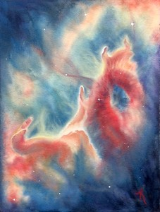 """Heaven's Gate"" (watercolor) by Kay Cross"