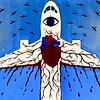"""""""Syzygy"""" (acrylic on canvas) by Evgeniya Gol"""