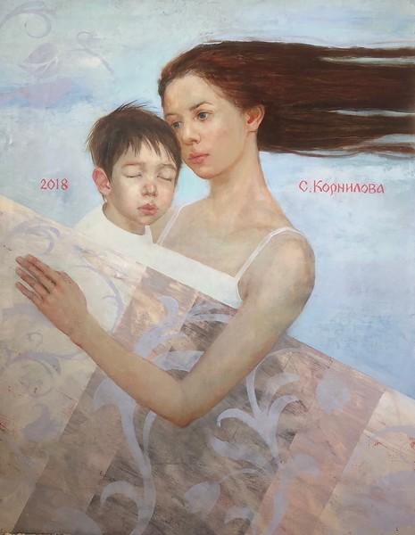 """Between Heaven and Earth"" (oil on canvas) by Svetlana Kornilova"