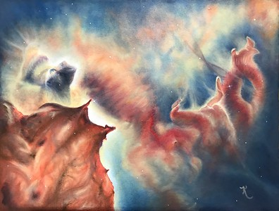 """Where Stars are Born"" (watercolor) by Kay Cross"