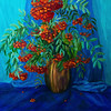 """Rowanberry"" (oil on canvas) by Nataliia Dovghaniuk"