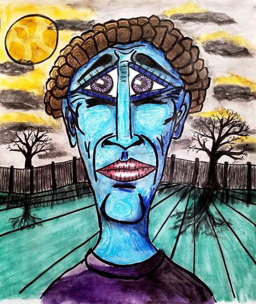 """""""Blue Stalker"""" (pastel) by William Erickson"""