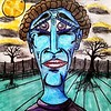 """Blue Stalker"" (pastel) by William Erickson"