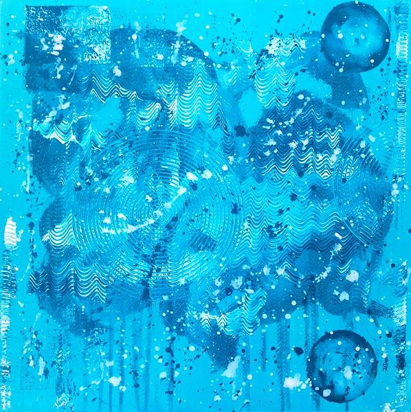 """Half no 2"" (acrylic on canvas) by Vasile Ghiuta"
