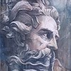 """""""Neptune"""" (plaster and paint on plywood) by IvaNn Iliushchenko"""