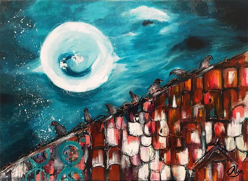 """Once upon in Prague"" (mixed media) by Aliya Kovalenko"