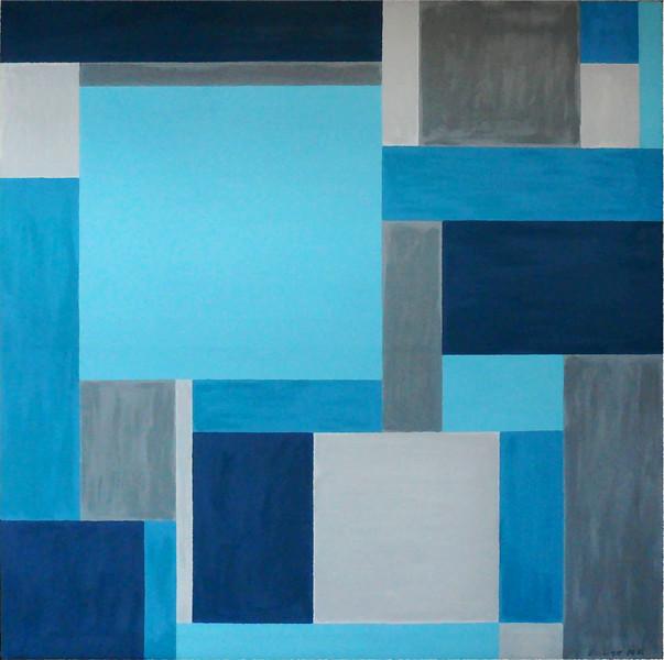 """""""Nederlands Sky"""" (oil on canvas) by Zaure Kadykenova"""