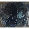 """Couple"" (tempera on canvas) by Anastasiia Matveeva"