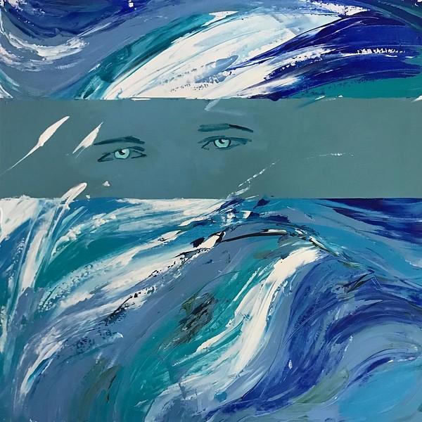 """""""the look of the soul"""" (acrylic) by Antonina Garasko and Svetlana Demina"""