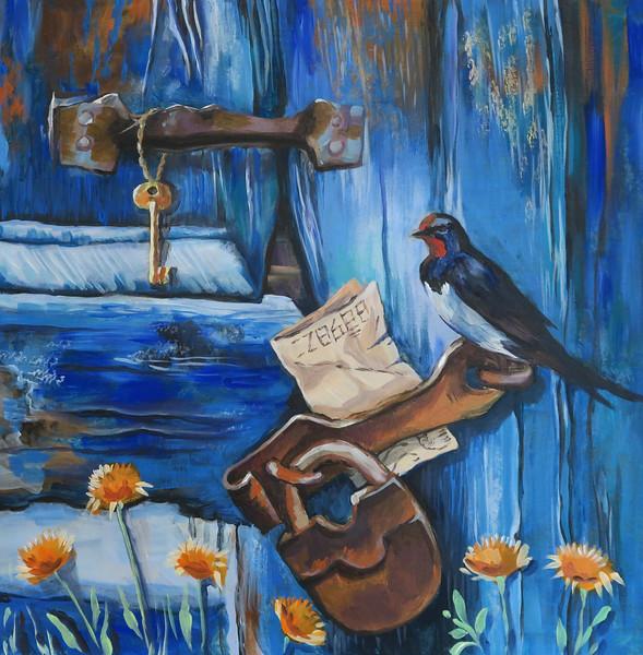 """The forgotten letter"" (acrylic) by Irina Danilova"