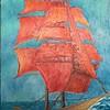 """Sailfish"" (oil) by Elena Motkova"