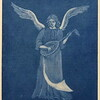 """Angel with Lute"" (mezzotint) by Barbara Mellin"