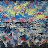 """Sunset After Rain"" (oil on canvas) by Zaure Kadykenova"