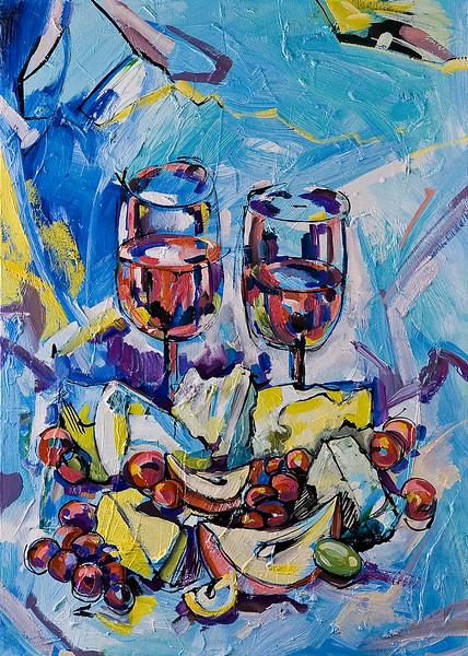 """Autumn wine"" (oil) by Olya Kartavaya"
