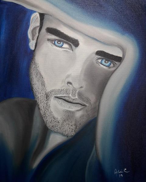 """Blue Soul"" (oil) by Adriana Calichio"