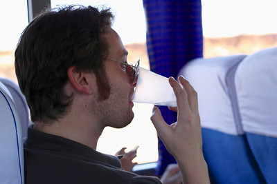 Give  Gareth a break, its the first day and being a rookie, the plastic is allowed on the first leg of the tour.
